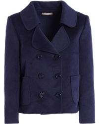 Michael Kors - Double-breasted Wool, Angora And Cashgora-blend Coat - Lyst