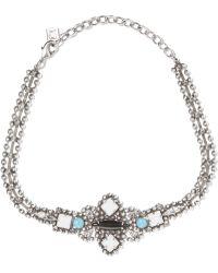 DANNIJO - Glorenza Oxidized Silver-plated Swarovski Crystal Choker - Lyst