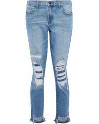 J Brand - Slim Leg Mid Denim - Lyst