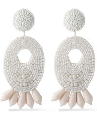 Kenneth Jay Lane - Gold-tone Beaded Earrings - Lyst