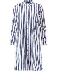 M.i.h Jeans - Tove Striped Cotton-poplin Mini Shirt Dress - Lyst