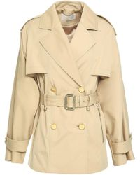 MICHAEL Michael Kors - Double-breasted Cotton-blend Trench Coat - Lyst