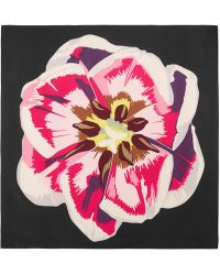 Christopher Kane - Floral-print Silk-twill Scarf - Lyst