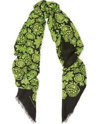 Christopher Kane - Printed Wool And Silk-blend Scarf - Lyst