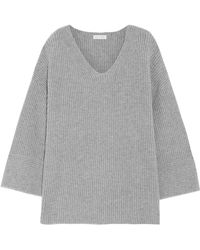 Chinti & Parker - Ribbed Merino Wool And Cashmere-blend Jumper - Lyst