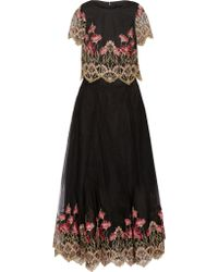 Notte by Marchesa - Embroidered Tulle Top And Maxi Skirt Set - Lyst