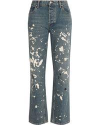 Helmut Lang - Painted High-rise Boyfriend Jeans - Lyst