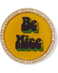Marc By Marc Jacobs - Be Nice Gold-tone Crystal Brooch - Lyst