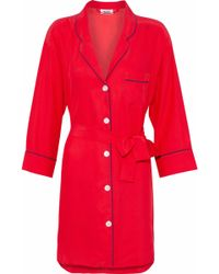 Sleepy Jones - Silk Nightshirt - Lyst