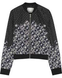 3.1 Phillip Lim - Lace And Silk Bomber Jacket - Lyst