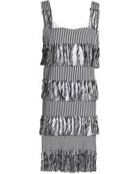 Prism - Nevis Fringed Striped Cotton-twill Dress - Lyst