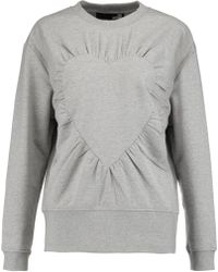 Love Moschino - Gathered Stretch-cotton Jersey Sweatshirt - Lyst