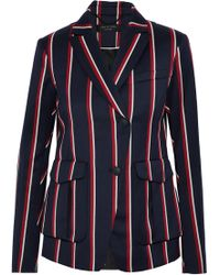 Rag & Bone - Striped Wool And Cotton-blend Blazer - Lyst