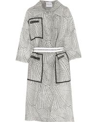 Vionnet - Belted Printed Organza Coat - Lyst