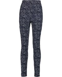 Issa - Micah Printed Stretch-cotton Skinny Pants - Lyst