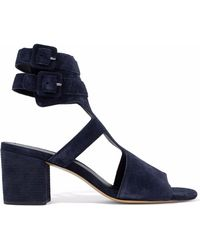 Rag & Bone - Madison Cutout Suede Sandals - Lyst
