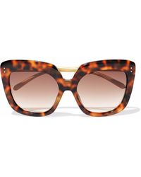 Linda Farrow - Square-frame Tortoiseshell Acetate Sunglasses - Lyst