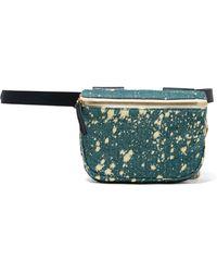 Clare V. - Leather-trimmed Denim Belt Bag - Lyst