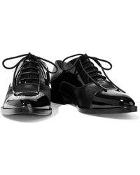Sigerson Morrison - Elinor Patent Leather And Satin Brogues - Lyst