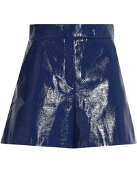 M Missoni - Woman Coated Cotton Shorts Navy - Lyst