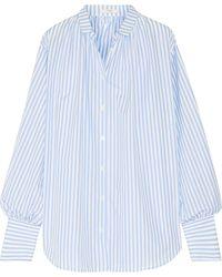 TOME - Oversized Striped Cotton-poplin Shirt - Lyst