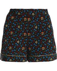 Maje - Floral-print Crepe Shorts - Lyst