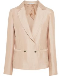 Barbara Casasola | Double-breasted Silk-crepe Blazer | Lyst