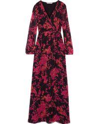 Diane von Furstenberg - Celia Printed Silk-chiffon Maxi Dress - Lyst