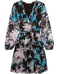 Diane von Furstenberg - Celia Printed Silk-chiffon Dress - Lyst