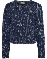 Soft Joie - Woman Akinyi Quilted Jacquard Jacket Navy Size Xxs - Lyst