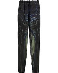 Maria Grachvogel - Mayer Printed Silk Tapered Pants - Lyst