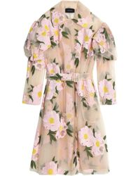 Simone Rocha - Belted Embroidered Cotton-blend Tulle Trench Coat - Lyst