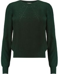 Merchant Archive - Cutout Wool And Cashmere-blend Sweater - Lyst