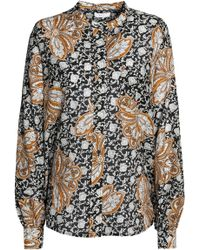 A.L.C. - Printed Cotton And Silk-blend Shirt - Lyst
