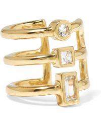 Elizabeth and James - Roni Gold-tone Crystal Ear Cuff - Lyst