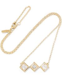Elizabeth and James | - Truitt Gold-tone Crystal Necklace | Lyst