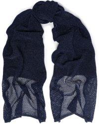M Missoni - Metallic Lattice-trimmed Crochet-knit Scarf - Lyst