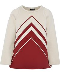 Anya Hindmarch - Two-tone Appliquéd Neoprene Top - Lyst