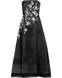 Noir Sachin & Babi - Marina Appliquéd Embroidered Broderie Anglaise Dress - Lyst