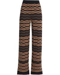 M Missoni - Crochet-knit Wide-leg Trousers - Lyst
