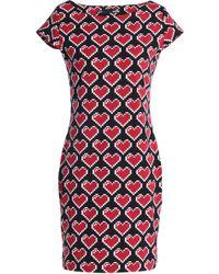 1e50a816760 Love Moschino - Woman Printed Stretch-cotton Jersey Mini Dress Black - Lyst