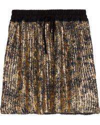 Vivienne Westwood Anglomania - Metallic Coated Cotton Mini Skirt - Lyst