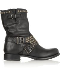 Frye - Jenna Studded Leather Boots - Lyst