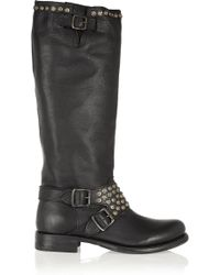 Frye - Jenna Studded Leather Knee Boots - Lyst