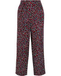 Vanessa Seward - Acronyme Cropped Silk-jacquard Wide-leg Trousers - Lyst