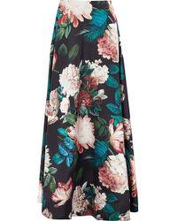 Sachin & Babi - Pleated Floral-print Duchesse Satin-twill Maxi Skirt - Lyst