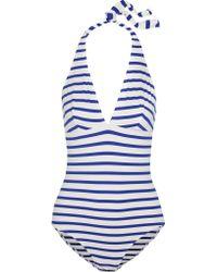 Petit Bateau - Striped Swimsuit - Lyst