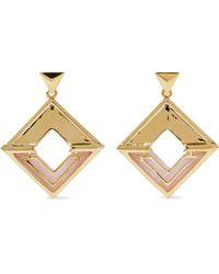 Noir Jewelry - Hint Of Glint 14-karat Gold-plated Acetate Earrings Gold - Lyst
