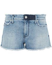RTA - Distressed Denim Shorts Light Denim - Lyst