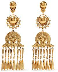 Elizabeth Cole - Woman Burnished 24-karat Gold-plated Earrings Gold - Lyst